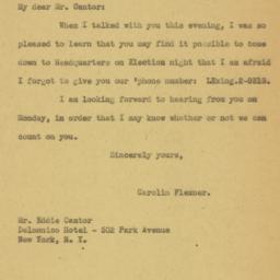 Letter : 1932 November 4