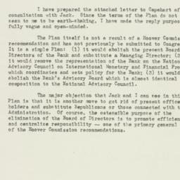 Memorandum: 1953 May 27