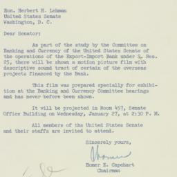 Letter: 1954 January 25