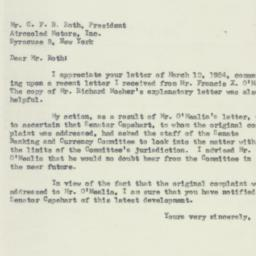 Letter: 1954 March 19