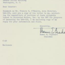 Letter: 1954 March 29