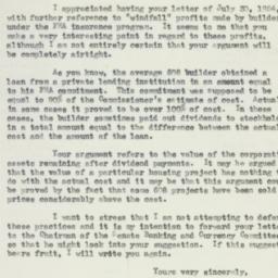 Letter: 1954 August 4