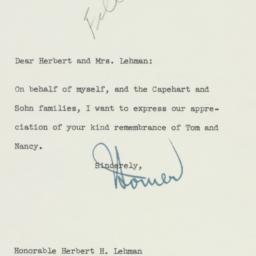 Letter: 1960 February 12