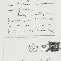 Letter : 1933 July 4