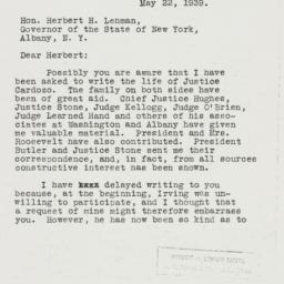 Letter : 1939 May 22