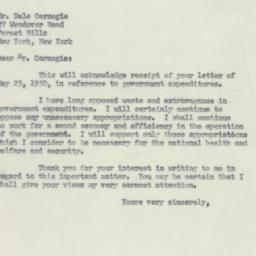 Letter : 1950 June 1