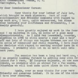 Letter : 1955 July 11