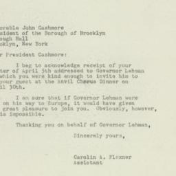 Letter : 1949 April 8
