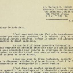 Letter : 1948 February 19