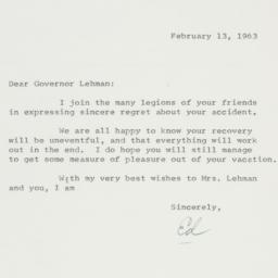 Letter: 1963 February 13