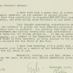 Letter: 1930 January 2