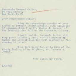 Letter : 1934 November 2