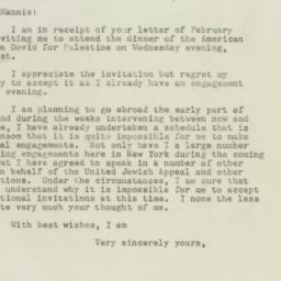 Letter: 1948 February 17