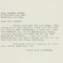 Letter: 1950 March 14