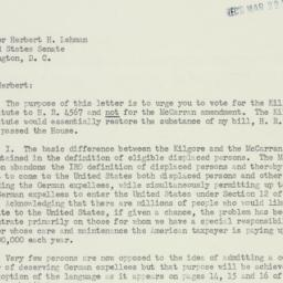 Letter: 1950 March 22