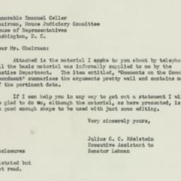 Letter: 1951 October 17