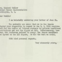 Letter : 1952 July 3