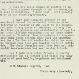Letter: 1953 March 5