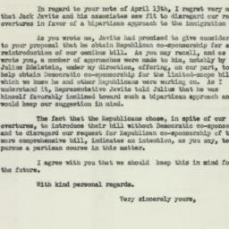 Letter : 1954 April 15