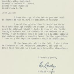 Letter: 1954 June 29