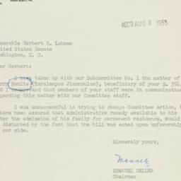 Letter : 1955 August 3