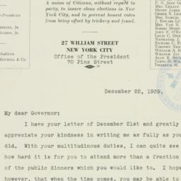 Letter : 1939 December 22