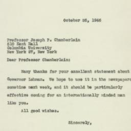 Letter : 1946 October 26