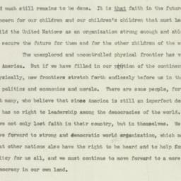 Speech: 1948 May 24