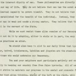 Speech: 1949 June 21