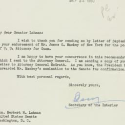Letter : 1950 September 22