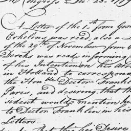 Document, 1778 December 23