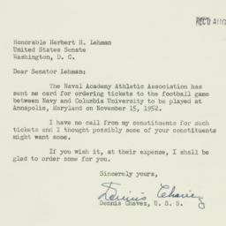 Letter : 1952 August 9