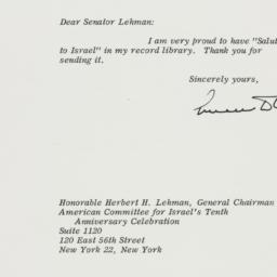 Letter : 1958 May 27