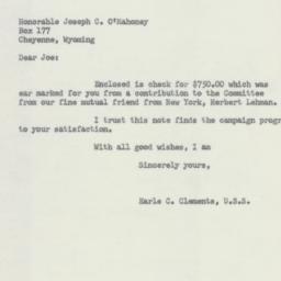 Letter : 1952 October 3