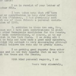Letter : 1954 October 22