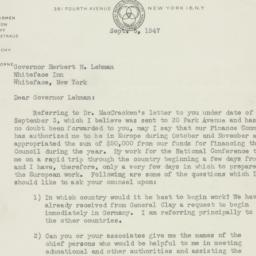 Letter : 1947 September 5