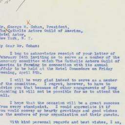 Letter : 1940 February 26