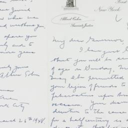 Letter : 1948 March 26