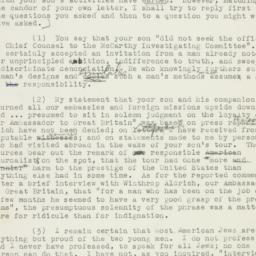 Letter : 1953 August 1