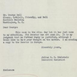 Letter : 1953 August 18