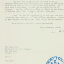 Letter : 1940 October 7