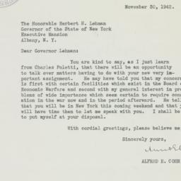 Letter : 1942 November 30