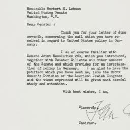 Letter : 1950 June 8