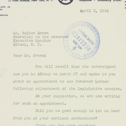 Letter : 1941 April 3