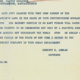 Telegram : 1933 January 5