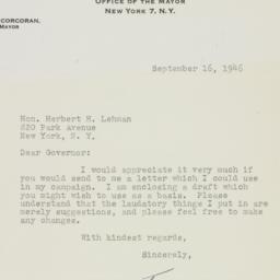 Letter : 1946 September 16