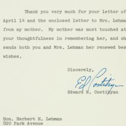 Letter : 1962 April 24
