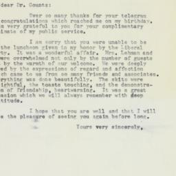 Letter : 1958 April 11
