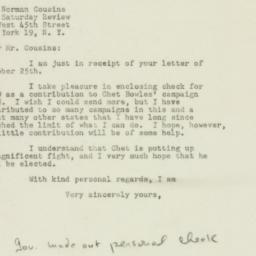 Letter : 1948 October 26