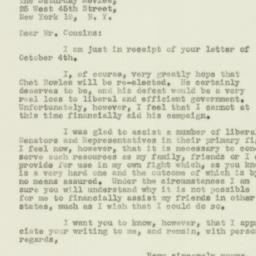 Letter : 1950 October 10